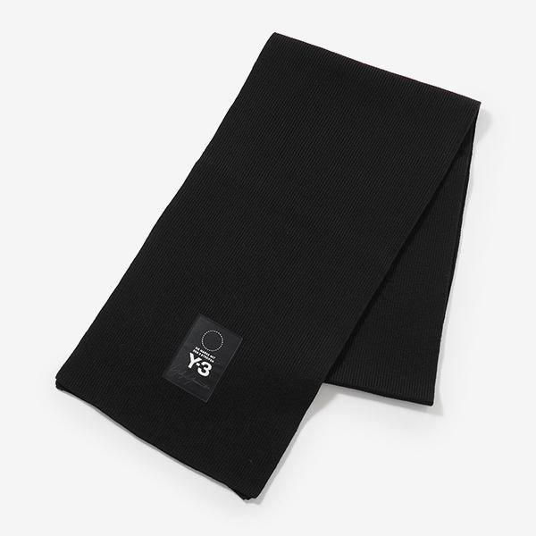 Y-3 ワイスリー adidas アディダス YOHJI YAMAMOTO コラボ DT0896 メリノウール混 ニットマフラー BLACK メンズ