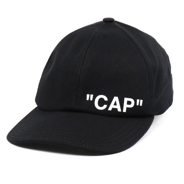 OFF-WHITE オフホワイト OMLB008 E18 515010 1001 コットン ベースボールキャップ 帽子 1001/BLACK-WHITE メンズ
