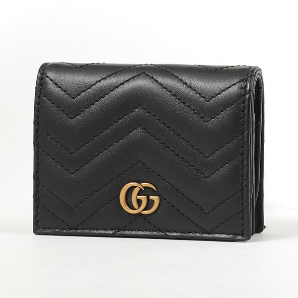 GUCCI グッチ 466492 DRW1T GG Marmont 2.0 二つ折りミニ財布 カードケース 1000 レディース