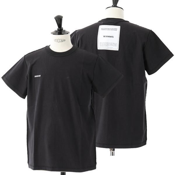 VETEMENTS ヴェトモン MAH19TR201 クルーネック 半袖 Tシャツ カットソー Black メンズ