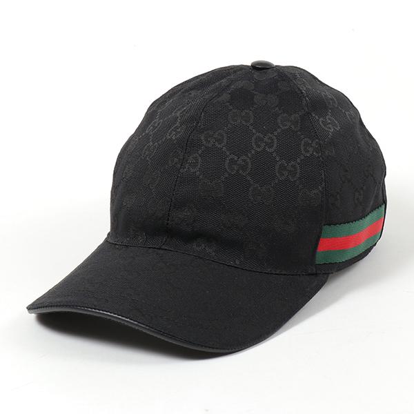 GUCCI グッチ 200035 KQWBG オリジナルGGキャンバス ベースボールキャップ 帽子 ウェブライン 1060 ユニセックス