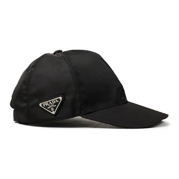 PRADA プラダ 1HC274 2B15 F0002 ナイロン ベースボールキャップ 帽子 三角ロゴ金具プレート NERO ユニセックス