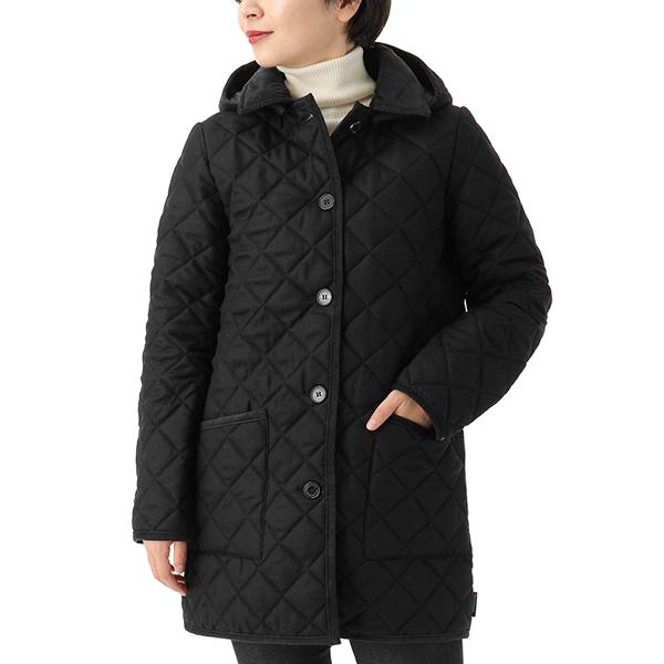 Traditional Weatherwear トラディショナルウェザーウェア LDS WAVERLY HOOD QO0916-QOP7193 ウール キルティング ジャケット フード付き コート 6Q03-LC06/BKBK レディース