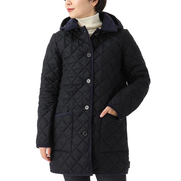 Traditional Weatherwear トラディショナルウェザーウェア LDS WAVERLY HOOD QO0915-QOP7193 ウール キルティング ジャケット フード付き コート 6Q02-LC05/NVNV レディース