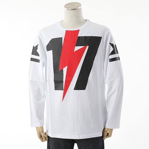 HYDROGEN ハイドロゲン 230051 クルーネック 長袖Tシャツ カットソー 001/WHITE メンズ