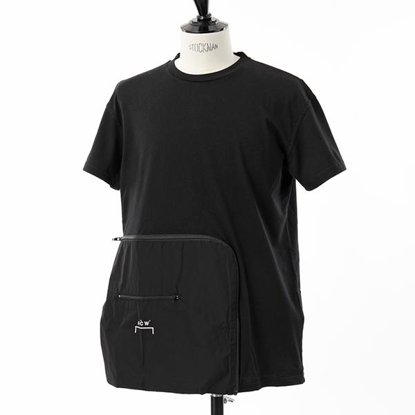 A-Cold-Wall* アコールドウォール TEE5 CW8FMH04AP TE187 クルーネック 半袖 Tシャツ ジップ ポケット BLACK メンズ