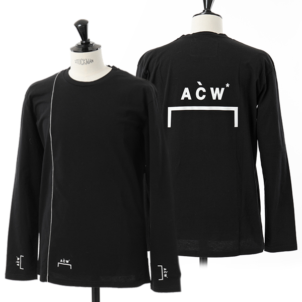 A-Cold-Wall* アコールドウォール LS4 CW8FMH02GP TE187 クルーネック 長袖Tシャツ カットソー BLACK メンズ