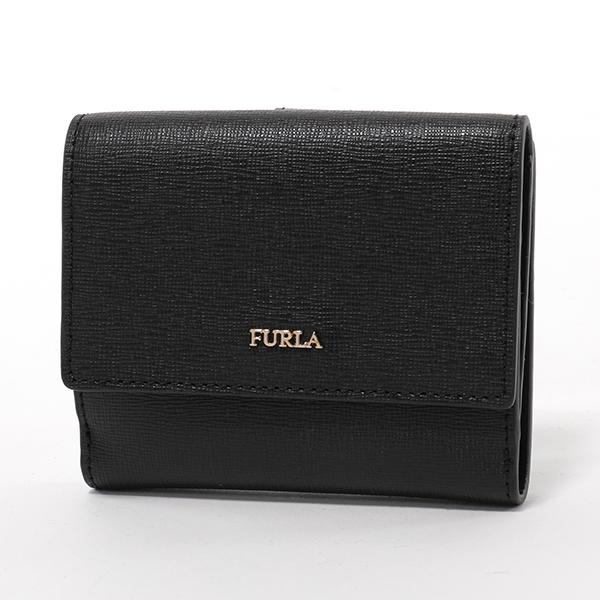 Furla フルラ 978869 PZ57 B30 BABYLON S レザー 二つ折り財布 ミニ財布 ONYX レディース