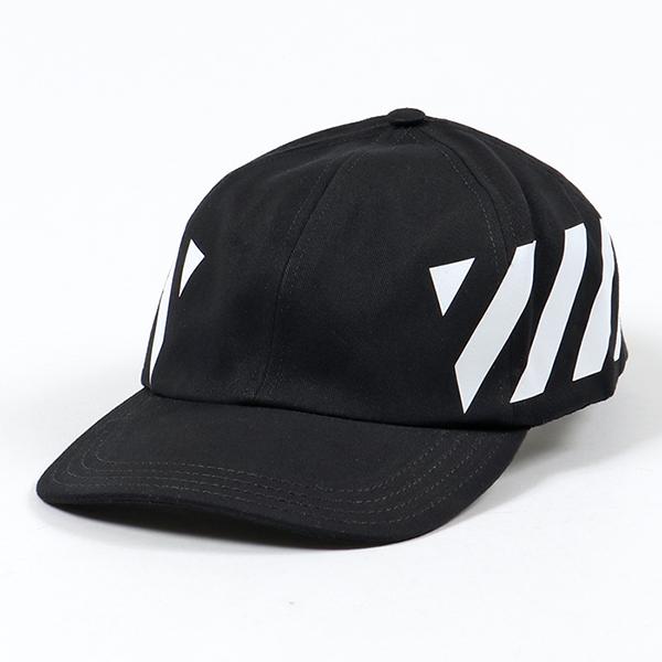 OFF-WHITE オフホワイト VIRGIL ABLOH OMLB008R19400032 DIAG BASEBALL CAP ベースボールキャップ 帽子 1001/BLACK メンズ