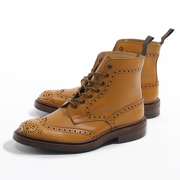 Trickers トリッカーズ STOW 5634/24 ANTIQUE DAINITE SOLE 5 FIT ストウ ブローグブーツ 革靴 ショートブーツ ウィングチップ ACORN メンズ