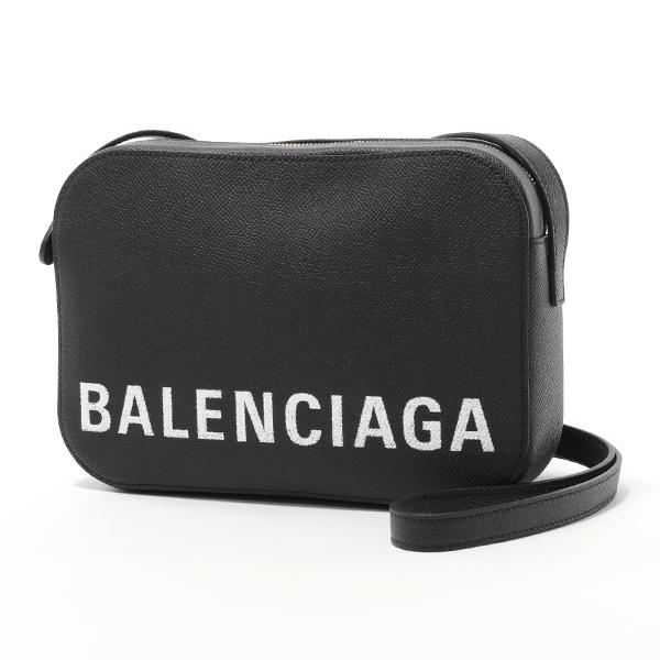 BALENCIAGA バレンシアガ 558172 0OTDM 1000 ヴィル VILLE CAMERA BAG S AJ レザー ショルダーバッグ ポシェット BLACK/LWHITE レディース