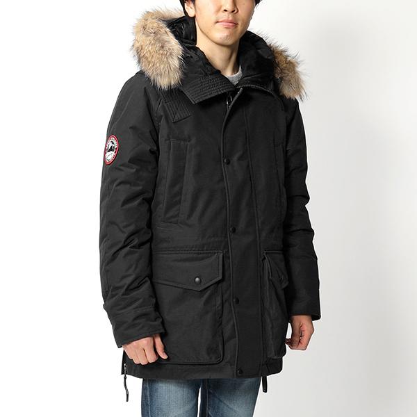 ARCTIC EXPLORER アークティックエクスプローラー Chill ラクーンファー付き フーテッド ダウンジャケット BLACK メンズ