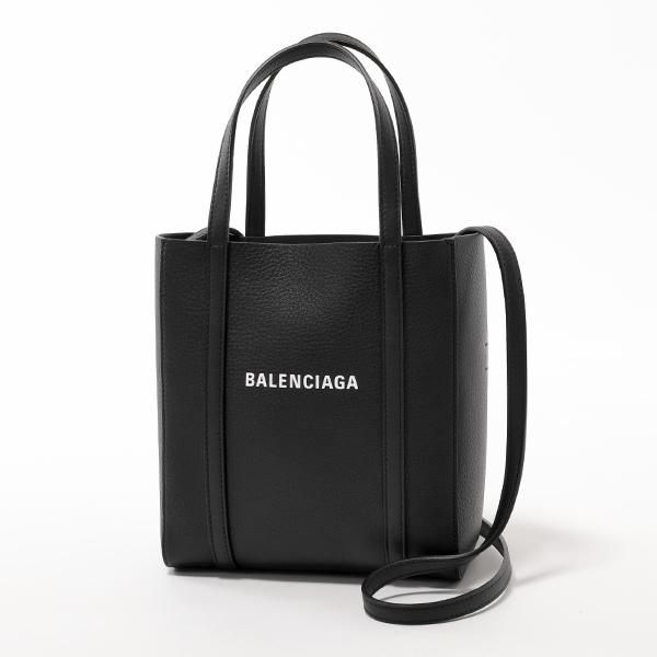 BALENCIAGA バレンシアガ 551815 D6W2N 1000 EVERYDAY TOTE XXS AJ レザー トートバッグ ショルダーバッグ BLACK/L-WHITE レディース