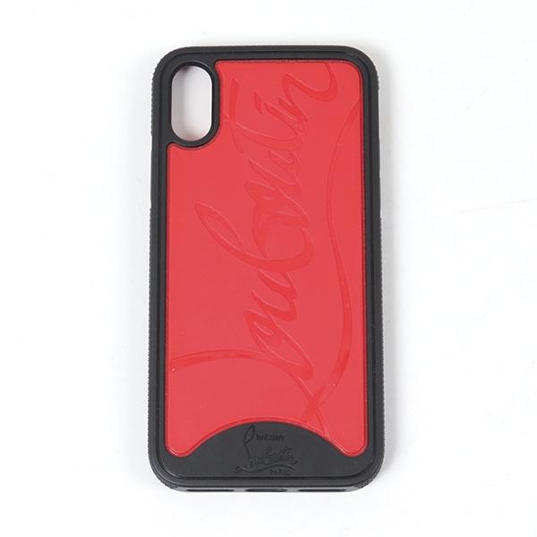 Christian Louboutin クリスチャンルブタン 3185264 iphoneX専用ケース スマホ 携帯 カバー M283-BLACK/RED ユニセックス
