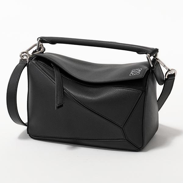 グッドプライス 2020年春夏新作 LOEWE 安値 ロエベ 322.30.S21 PUZZLE SMALL BAG パズル レザー バッグ ショルダーバッグ 送料無料 レディース ハンドバッグ 1100 鞄 スモール BLACK