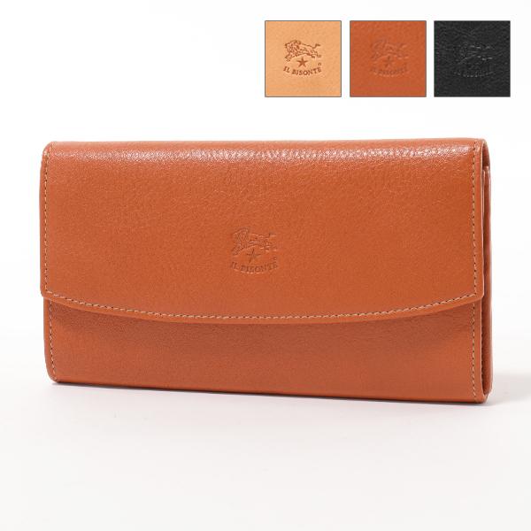 IL BISONTE イルビゾンテ C0961 P VACCHETTA レザー 二つ折り長財布 カラー3色 レディース