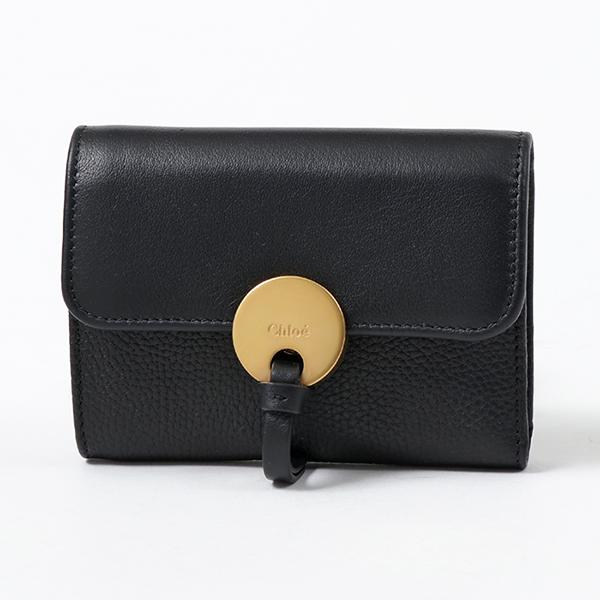 Chloe クロエ CHC17SP853H8J レザー 三つ折り財布 ミニ財布 豆財布 001/BLACK レディース