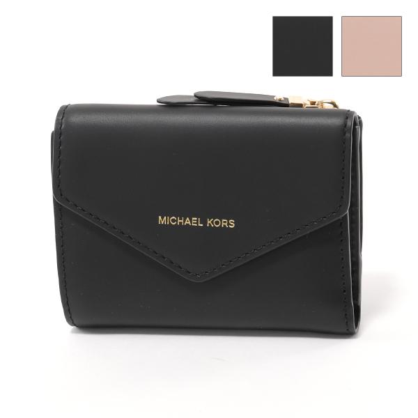 MICHAEL KORS マイケルコース 32S8GZLD5L BLAKELY レザー 二つ折り財布 ミニ財布 豆財布 BLACK レディース