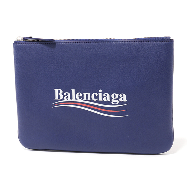 BALENCIAGA バレンシアガ 516358 D6W9N エブリデイ EVERYDAY POUCH レザー フラットポーチ クラッチバッグ 4660 ユニセックス メンズ