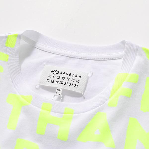 500円OFFクーポン対象 21日10時~22日9時59まで MAISON MARGIELA メゾンマルジェラ 1 S51GC0427 S22816 AIDS エイズT チャリティ クルーネック 半袖 Tシャツ カットソー 988 レディースtdxhQCsr
