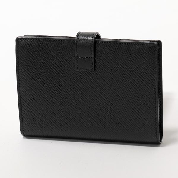 CELINE セリーヌ 10B643BFP.38NO Midium Strap Wallet ストラップ レザー 二つ折り財布 ミディアム スモール財布 Black レディース