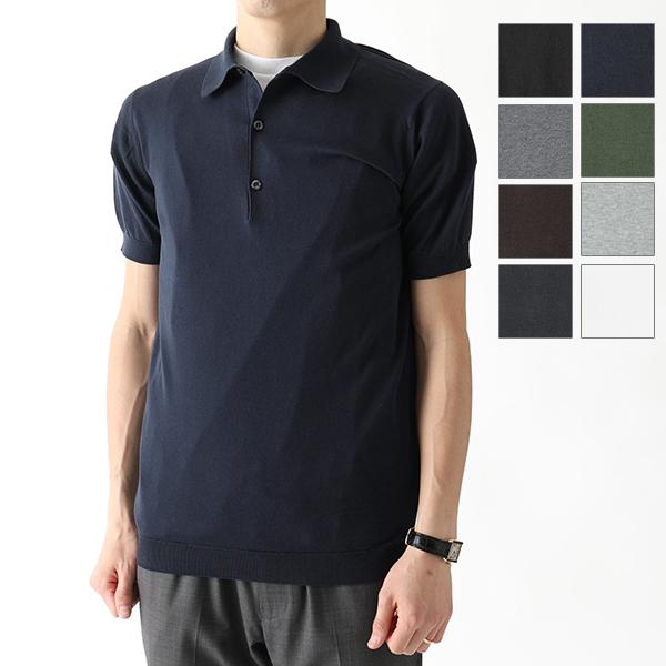 JOHN SMEDLEY ジョンスメドレー ADRIAN STANDARD FIT 半袖 ポロシャツ ニット セーター コットンニット カラー8色 メンズ