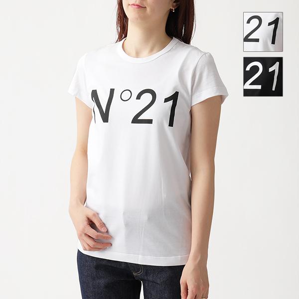 N°21 ヌメロヴェントゥーノ F031 4157 クルーネック 半袖 Tシャツ カットソー ロゴ カラー2色 レディース