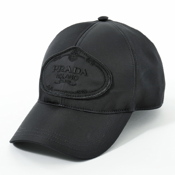 PRADA プラダ 2HC143 820 F0002 ナイロン ベースボールキャップ 帽子 ロゴ刺繍 NERO ユニセックス メンズ