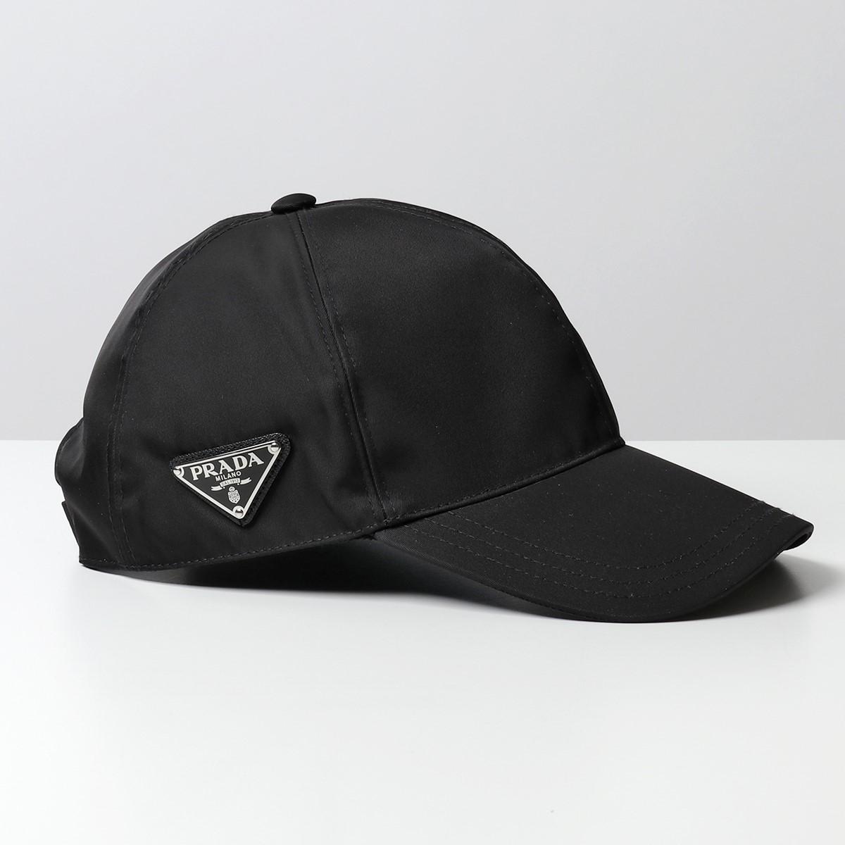 PRADA プラダ 2HC274 2B15 F0002 ナイロン ベースボールキャップ 帽子 三角ロゴ金具プレート NERO ユニセックス メンズ