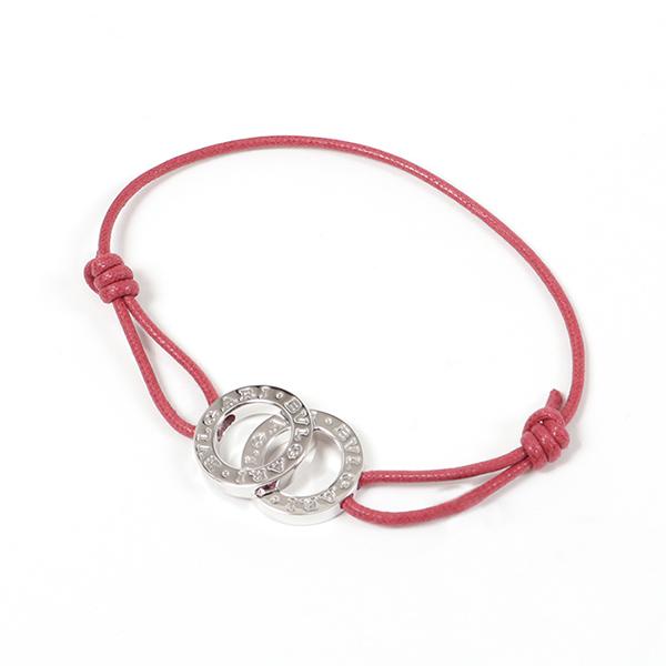 BVLGARI ブルガリ 31098 ABU Silver Bracelets Jewellery Wアイコン ブレスレット red/silver ユニセックス