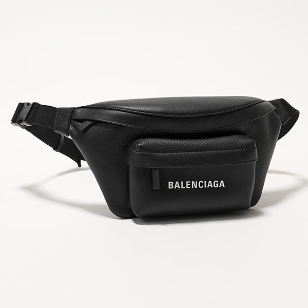 BALENCIAGA バレンシアガ 552375 DLQ4N 1000 エブリデイ ロゴ ベルトバッグ レザー ボディバッグ BLACK ユニセックス メンズ
