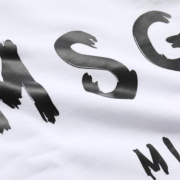 MSGM エムエスジーエム 2641 MDM89 長袖 スウェット スエット トレーナー ペイントロゴ ライト生地 01 レディース