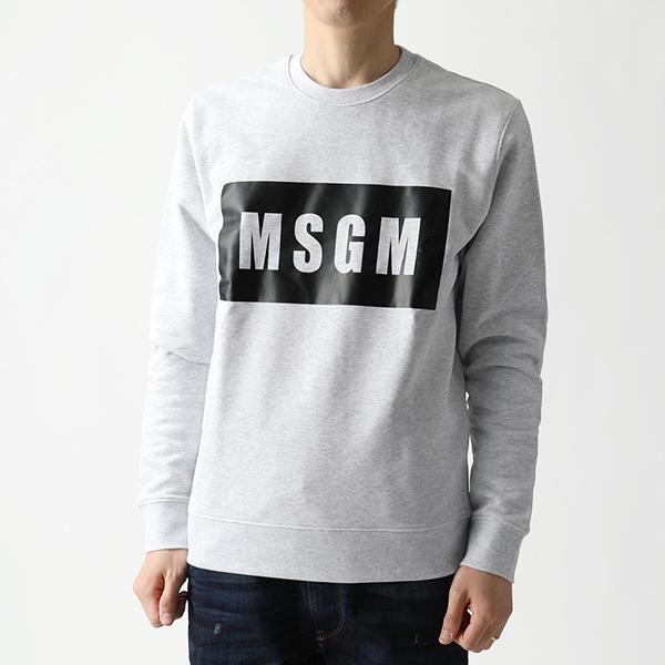 MSGM エムエスジーエム 2640 MM68 クルーネック スウェット スエット トレーナー ボックスロゴ ライト生地 94 メンズ