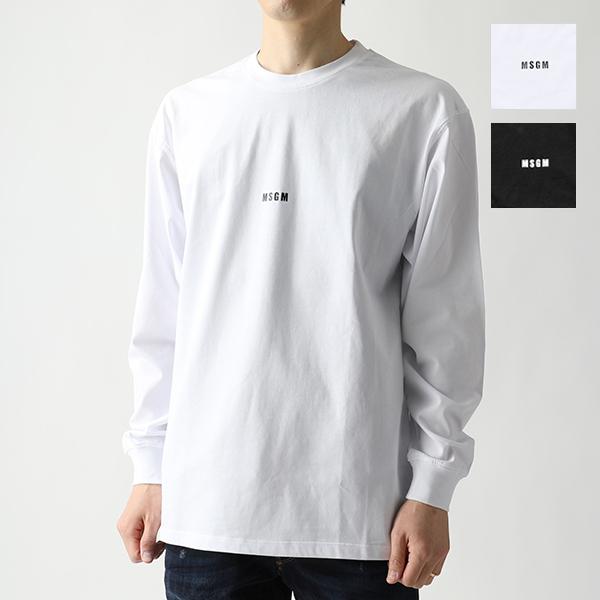 MSGM エムエスジーエム 2640 MM160 長袖Tシャツ カットソー クルーネック オーバーサイズ ちびロゴ カラー2色 メンズ
