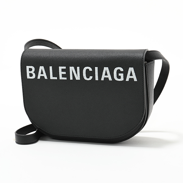 BALENCIAGA バレンシアガ 542207 0OTDM 1000 VILLE DAY BAG S AJ ヴィル デイバッグ レザー ショルダーバッグ ポシェット BLACK-LWHITE レディース