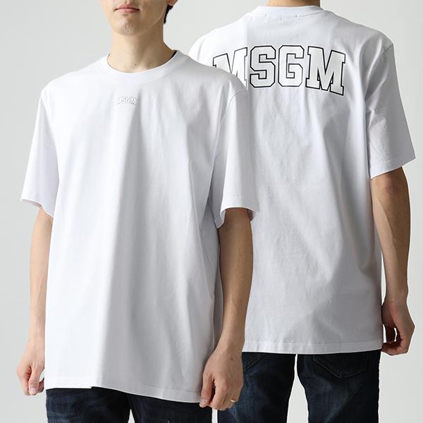 MSGM エムエスジーエム 2641 MDM179 オーバーサイズ 半袖 Tシャツ クルーネック ビッグシルエット カットソー 01