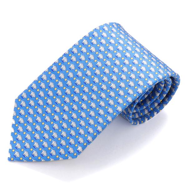 SALVATORE FERRAGAMO サルヴァトーレフェラガモ 35 7901 003 シルク ネクタイ ブタ ブルー メンズ