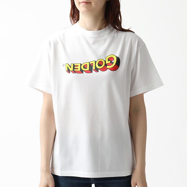 GOLDEN GOOSE ゴールデングース G34WP024 E2 クルーネック 半袖 Tシャツ カットソー WHITE レディース