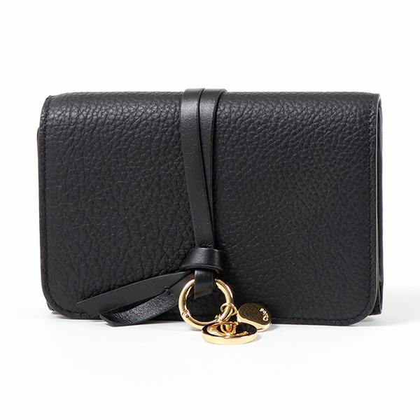 Chloe クロエ CHC17AP943 H9Q 001 レザー 三つ折り財布 ミディアム スモール財布 BLACK レディース