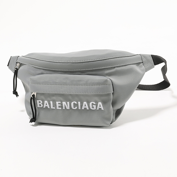BALENCIAGA バレンシアガ 533009 9F91X 1160 ウィール ベルトバッグ ボディバッグ ナイロン GREY/BLACK ユニセックス