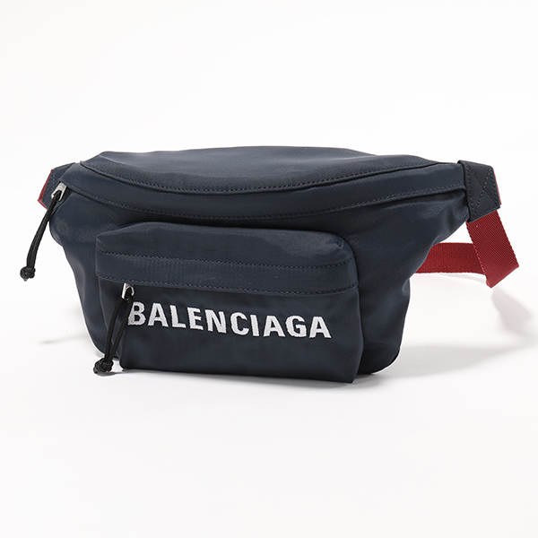 BALENCIAGA バレンシアガ 533009 9F91X 4370 ウィール ベルトバッグ ボディバッグ ナイロン BLEU-NAVY/ROUGE ユニセックス メンズ