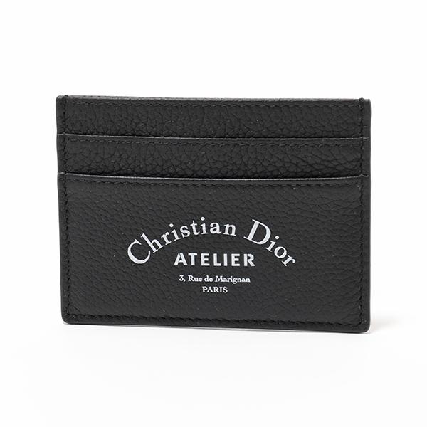 Dior ディオール 2ATCH001XXX 03EU H03E レザー カードケース 定期入れ アトリエロゴ Noir メンズ