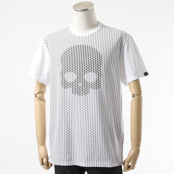 HYDROGEN ハイドロゲン 240006 SKULL STARS TEE クルーネック 半袖 Tシャツ カットソー 001-WHITE メンズ