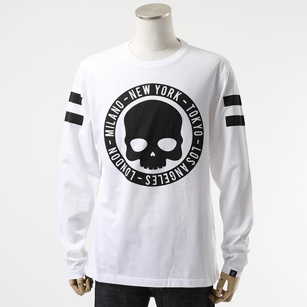 HYDROGEN ハイドロゲン 240633 CIRCLE CITIES TEE LS クルーネック 長袖Tシャツ カットソー 001-WHITE メンズ