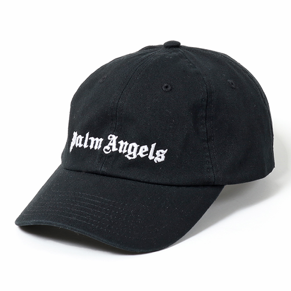 Palm Angels パームエンジェルス PMLB003S19224013 立体ロゴ刺繍 ベースボールキャップ 帽子 コットン 1001/BLACK-WHITE メンズ
