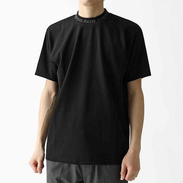 Acne Studios アクネ ストゥディオズ BL0004 NAVID ロゴクルーネック 半袖 Tシャツ Black/ブラック メンズ