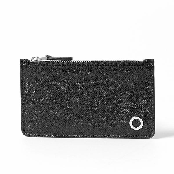 BVLGARI ブルガリ 282600 BB MAN レザー コインケース カードケース 小銭入れ ミニ財布 black/Palladium メンズ