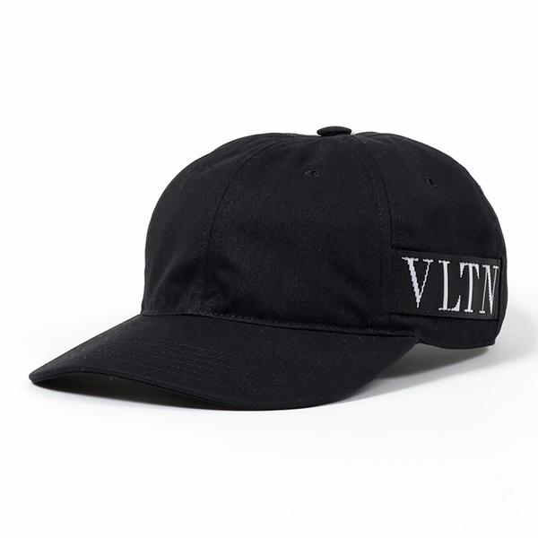 VALENTINO ヴァレンティノ RY2H0A03 TIH ジャガードロゴ ベースボールキャップ 帽子 0NO/NERO メンズ