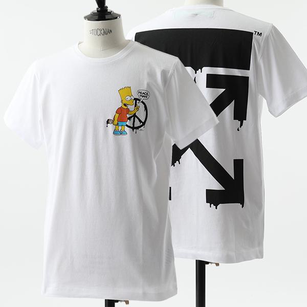 OFF-WHITE オフホワイト VIRGIL ABLOH OMAA027S19185034 0188 BART PEACE SIGN S/S クルーネック 半袖 Tシャツ メンズ