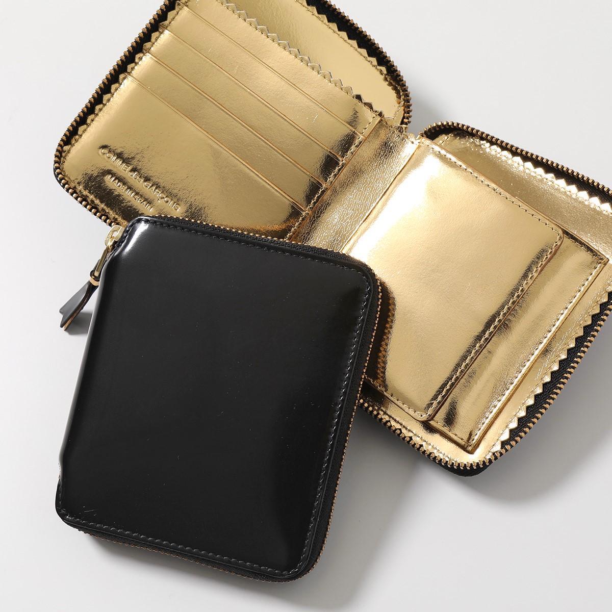 COMME DES GARCONS コムデギャルソン SA2100MI レザー 二つ折り財布 ミディアム スモール財布 GOLD ユニセックス